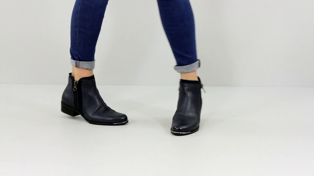 acd4b6d090c1a Caprice 25403 - Heeled Ankle Boots - Navy. The Shoe Horn