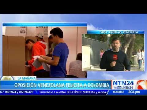 Oposición venezolana aplaude resultados de elecciones de Colombia