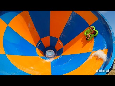 Tornado Water Slide - Funnel Ride - Wet n Wild Water park