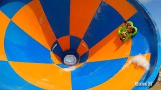 Tornado Water Slide - Funnel Ride - Wet n Wild Water park Las Vegas
