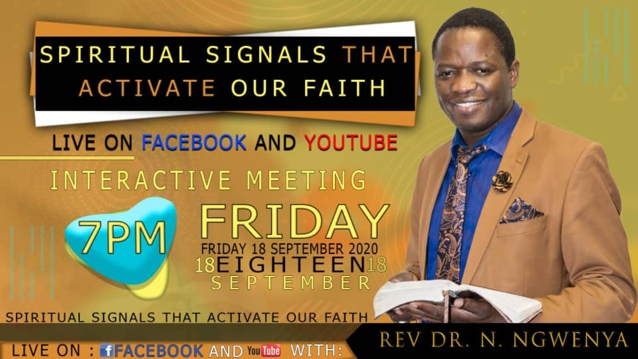 Spiritual signals that activate our Faith....Rev. Dr. N. Ngwenya & Pstr S. Mandemo