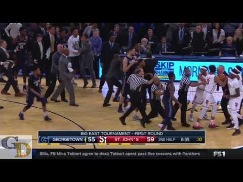 Chris Mullin and John Thompson Get Into A FIGHT After A Hard Foul