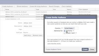 كيفية إنشاء Facebook Ad الجماهير المشابهة