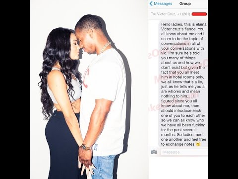"Victor Cruz Fiance Sends ""Meet and Greet"" Text Message to All his Side Chicks!"