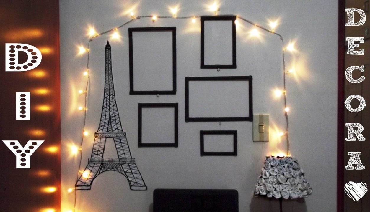DIY- Decora tu cuarto MINIMALIST (Torre Eiffel/ Marcos decorativos ...