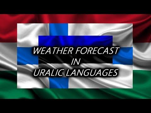 Weather Forecast in 3 Uralic Languages 🇭🇺 🇫🇮 🇪🇪
