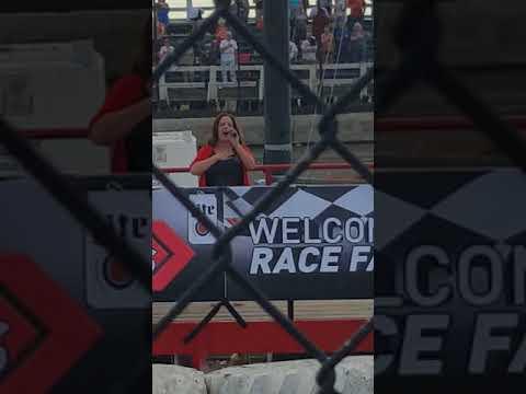 National Anthem at Macon Speedway