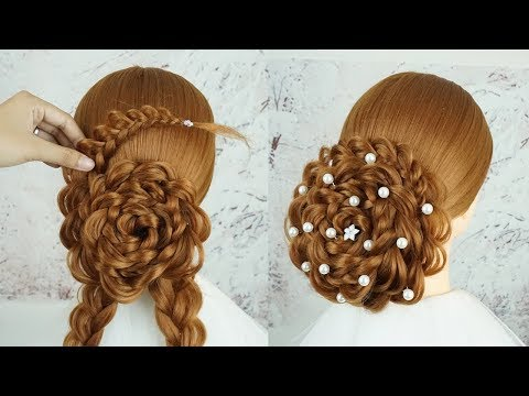 New Bun Hairstyle For Party Step By Step - Hair For Wedding Guest | Easy Bun Hairstyle With Trick thumbnail