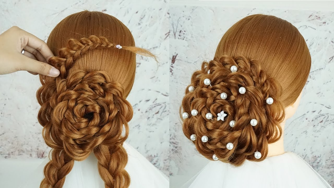 New Bun Hairstyle For Party Step By Step Hair For Wedding Guest Easy Bun Hairstyle With Trick
