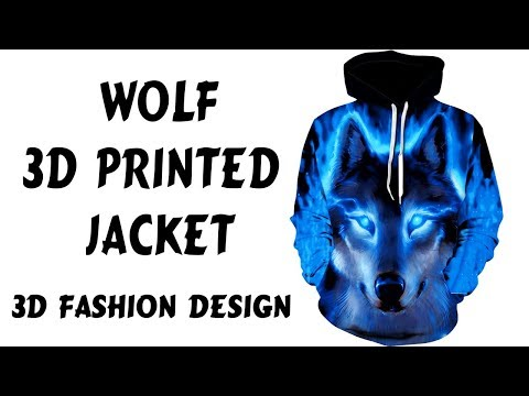 3D Printed Clothes: Men/Women's Wolf Animal 3D Printed Jacket Hooded Hoodies
