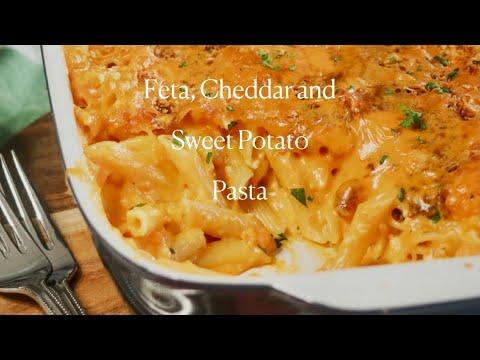 Feta, Cheddar and Sweet Potato Pasta