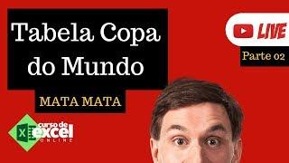 TABELA COPA DO MUNDO 2018 NO EXCEL - FASE MATA MATA [PARTE 2]