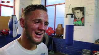 JIMMY JOE FLINT AFTER SPARRING SESSION WITH WORLD CHAMP JOSH WARRINGTON