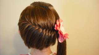 Side Swept French Fish Braid Hairstyle thumbnail