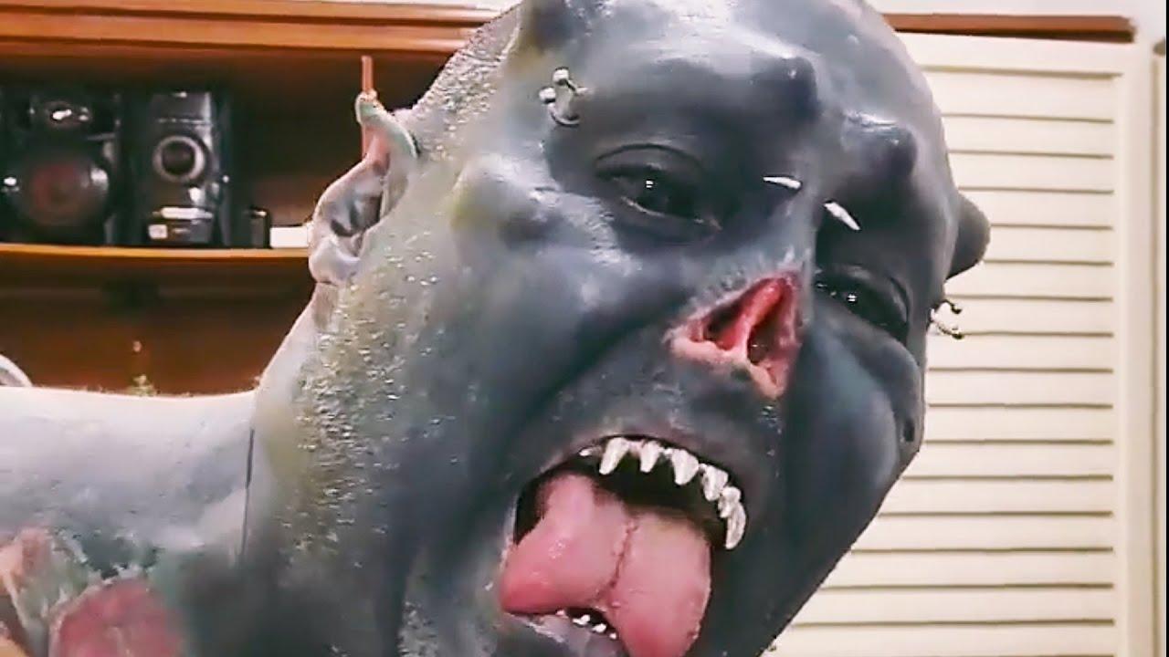 Шокирующий человек орк из фильма Властелин Колец