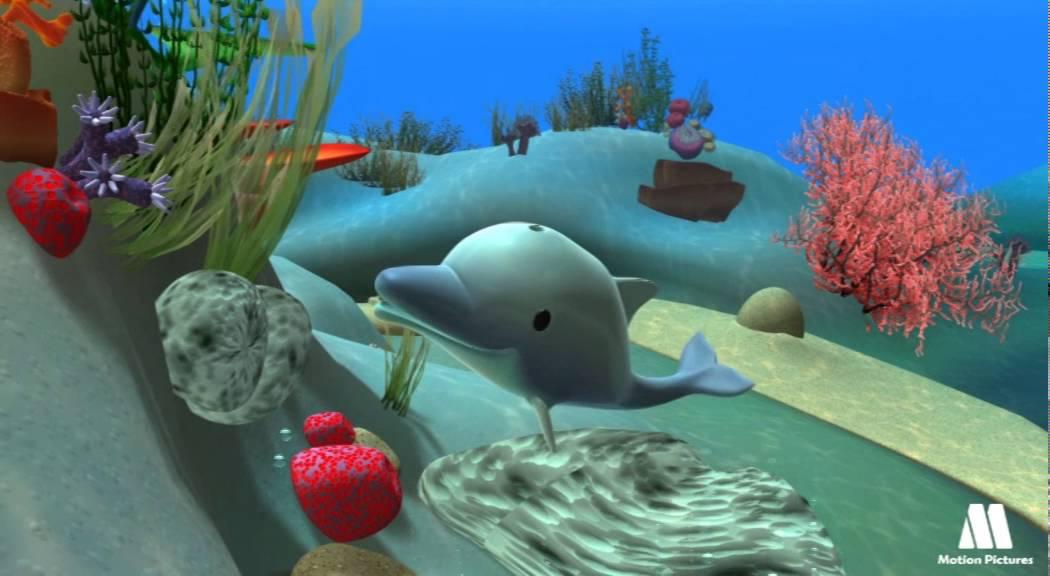 El Delfin Explora Los Animales Del Mar Con Caricaturas