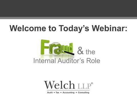 Fraud & the Internal Auditor's Role - Webinar