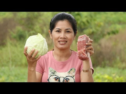 Awesome Cooking Pork Soup With (cabbage) Delicious Recipe – Cook Pork Recipes – Village food factory