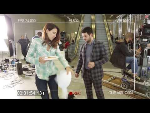 Екатерина Климова на съемках фильма Подарок с характером