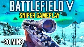 Battlefield 5 SNIPER GAMEPLAY *RAW* Scout Class BFV +  SNIPING HIGHLIGHTS Exclusive EA play footage