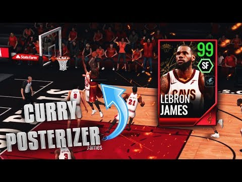 99 OVR DOUBLE CLUTCH LEBRON JAMES GAMEPLAY IN NBA LIVE MOBILE!