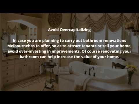 Planning Bathroom Renovations?  Read the Following Tips Before Starting