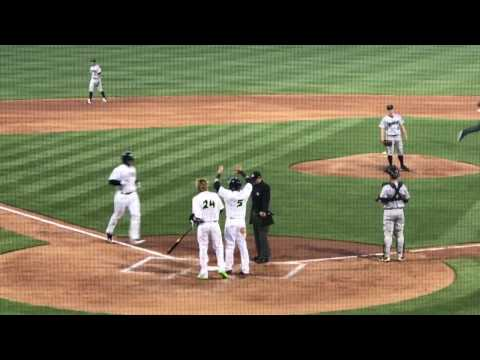 Tim Tebow Homers in First At Bat