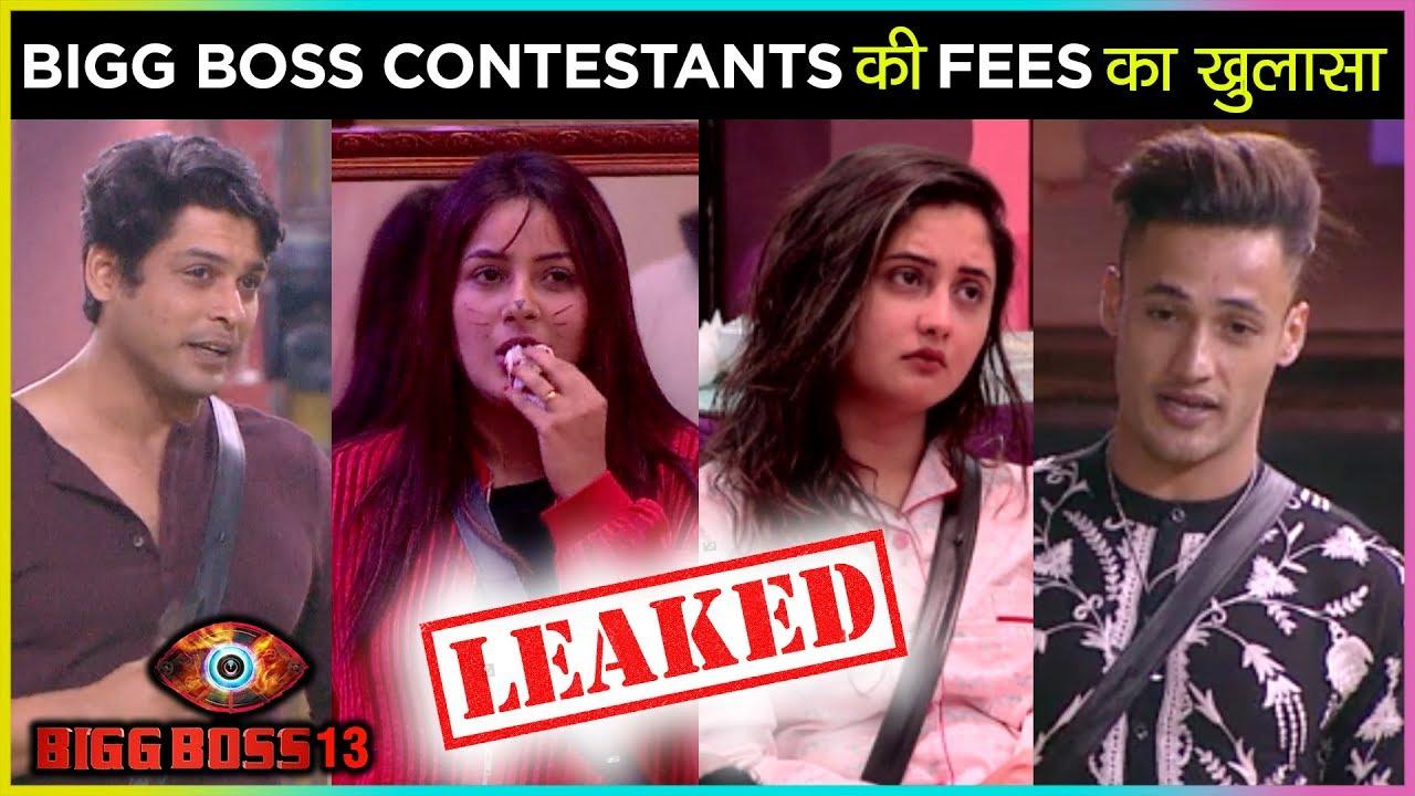 Shocking Fees Of Bigg Boss 13 Contestants Per Week Siddharth Asim Shehnaz Mahira Paras