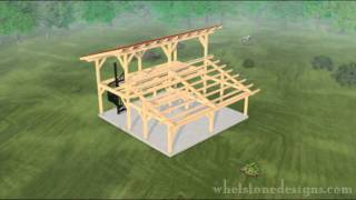 Timber Frame Animation - A Outdoor Pavilion