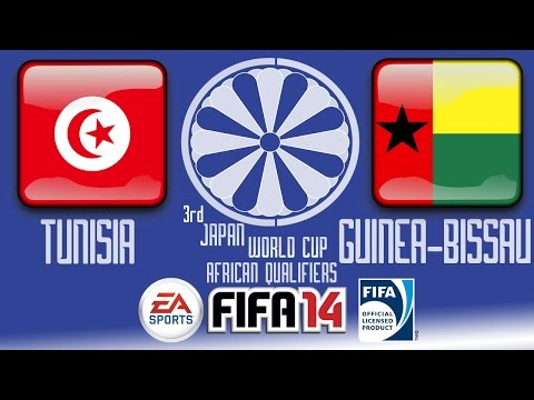 Tunisia vs. Guinea-Bissau - FIFA14 - End of Africa R1 Group C - 3rd Japan WCQ - 60fps