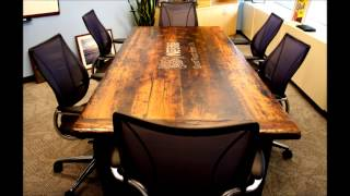 Boardroom Tables Made From Reclaimed Wood