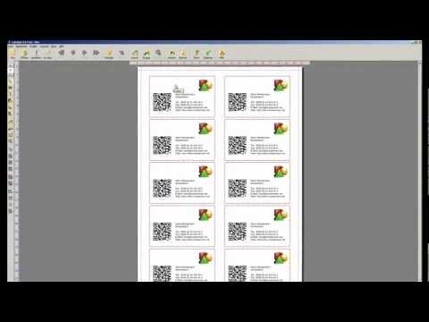 Visitenkarten Mit Qr Code Labeljoy Youtube