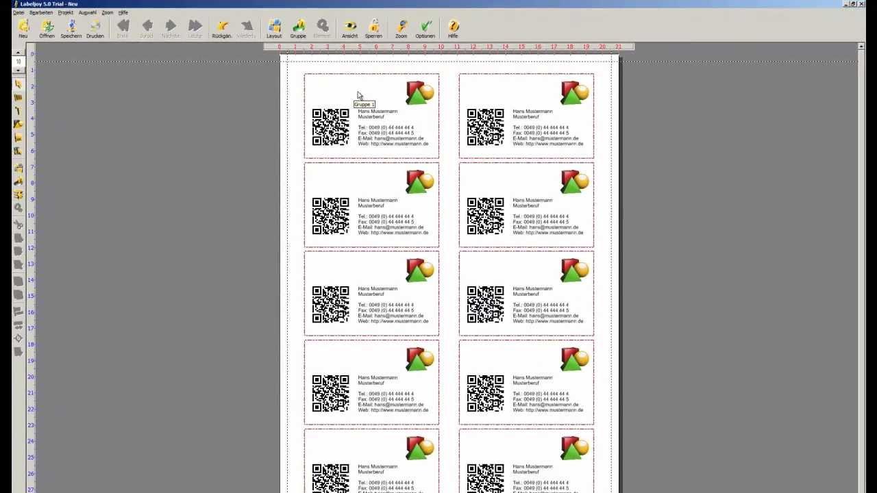 Visitenkarten Mit Qr Code Labeljoy