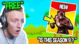 STREAMERS REACT TO *FREE* SEASON 9 BATTLE PASS FOR *EVERYONE* IN FORTNITE| Fortnite Funny Moments