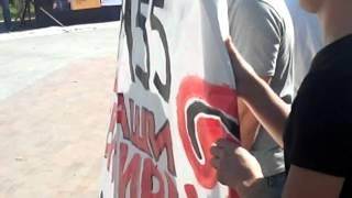 Митинг обманутых дольщиков  СУ-155 у памятника пограничникам на Яузской набережной