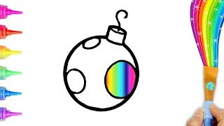 Coloring and Drawing 4 Christmas Ornaments for Toddlers, Kids | Creative World