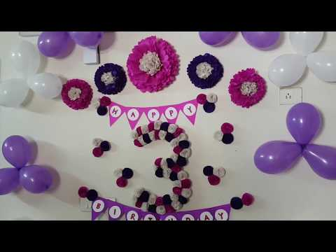 Easy Birthday Decoration Ideas at Home - DIY Tissue Paper Flowers Decor
