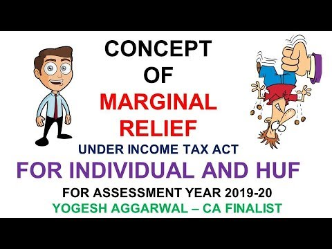 CONCEPT OF MARGINAL RELIEF FOR INDIVIDUAL AND HUF BY YOGESH AGGARWAL