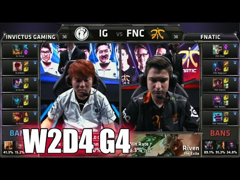 Fnatic vs Invictus Gaming | Week 2 Day 4 Group B LoL S5 World Championship 2015 | IG vs FNC G2