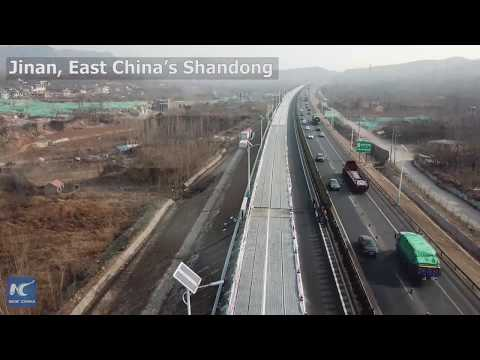 Solar expressway opens for testing in E China