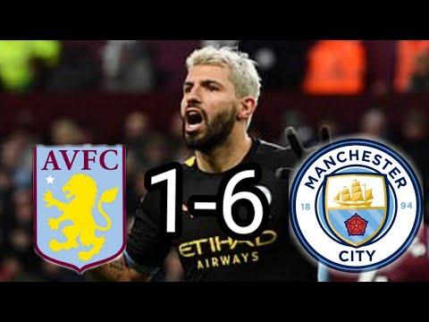 Aston Villa Vs Manchester City 1 6 All Goals And Match