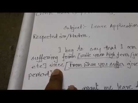 How To Write Leave Application At School - Youtube