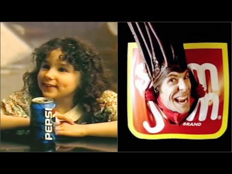 Famous People from Commercials  Then and Now