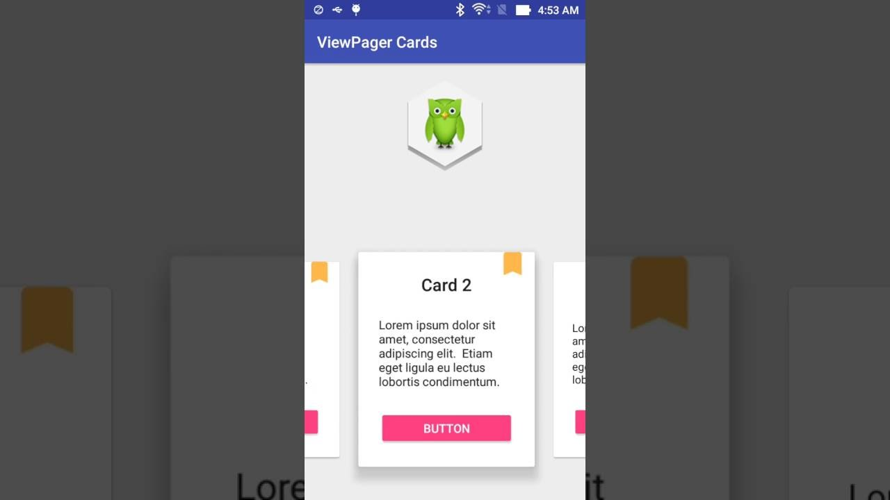 ViewPager cards like Duolingo application - Learn Programming Together