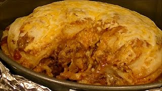 Recipe For Spicy Beef And Bean Enchilada Pie From Amy Of Tn.  Delicious Mexican Meal
