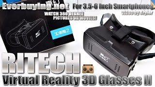 RITECH Virtual Reality 3D Glasses II - the Best/Cheapest Google Cardboard Solution? Adjustable lens!(TIP: Get them at Everbuying http://www.everbuying.net/product857136.html ($10.99) • In Chrome browser you can watch this video in HD with 50fps! • More info ..., 2015-05-04T21:03:45.000Z)