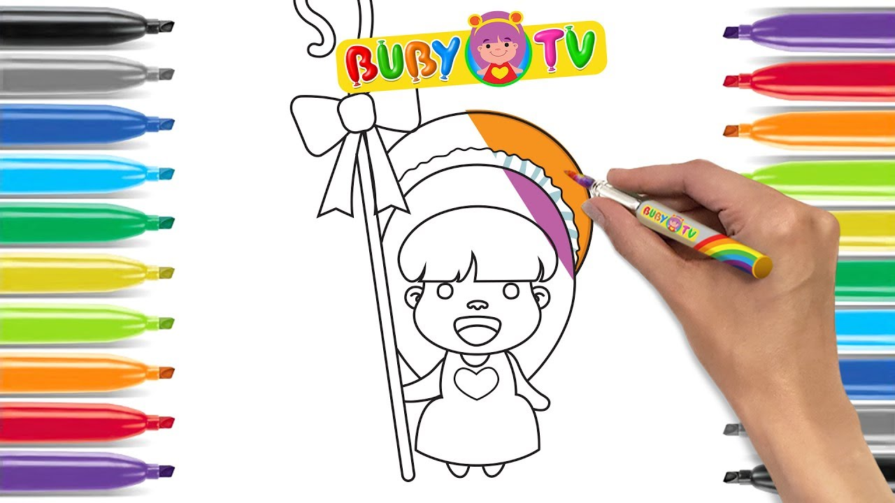 Coloring pages  drawing for kids Learn to draw Mary had a little