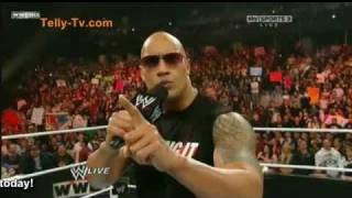 WWE Raw 15th Feb 2011-The Rock Returns Part 1/2