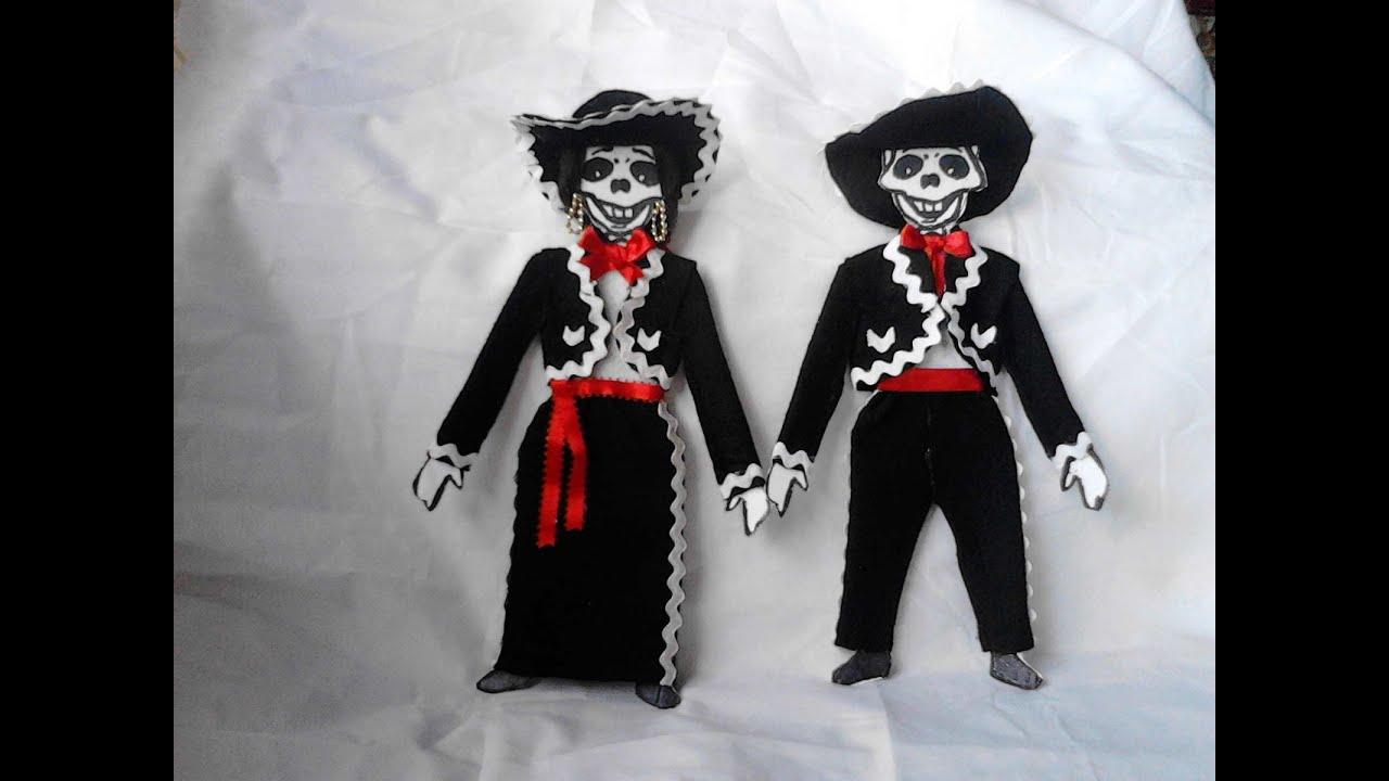 Como Vestir Esqueleto De Papel O Calavera Mariachi Con Moldes