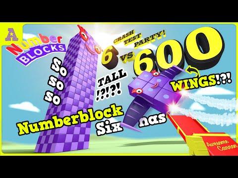 Time to Fly!! Super Tall 600 against Numberblock Six with WINGS!?!